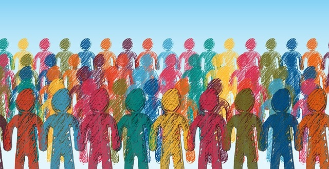 colorful abstract people